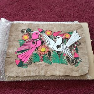 Other - Vintage 60's flower power painting